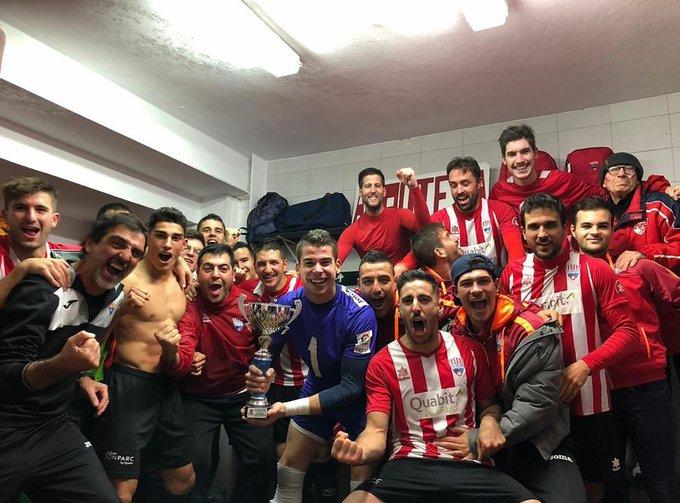 CE Mercadal players celebrate 2019 Menorca Regional Cup win