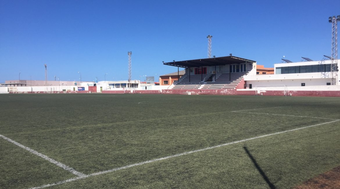 View of Atletic de Ciutadella's main stand in their ground
