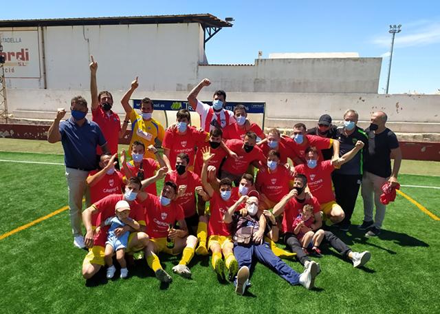 CE Mercadal players celebrate league win